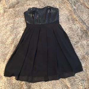 Black sequin Cocktail or Party Dress size 8